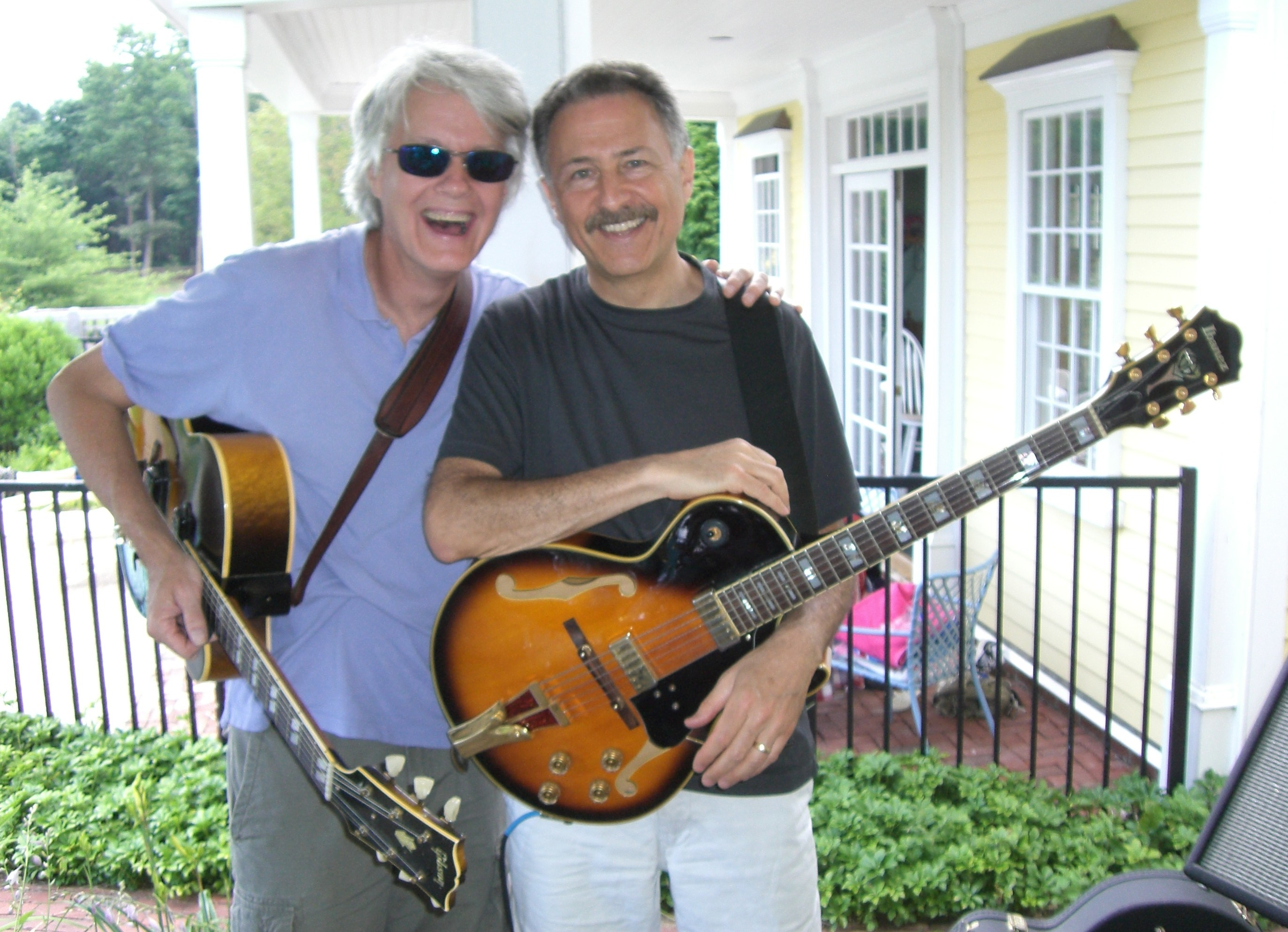Paul with Mark Endresen of the famed Calypso Hurricane