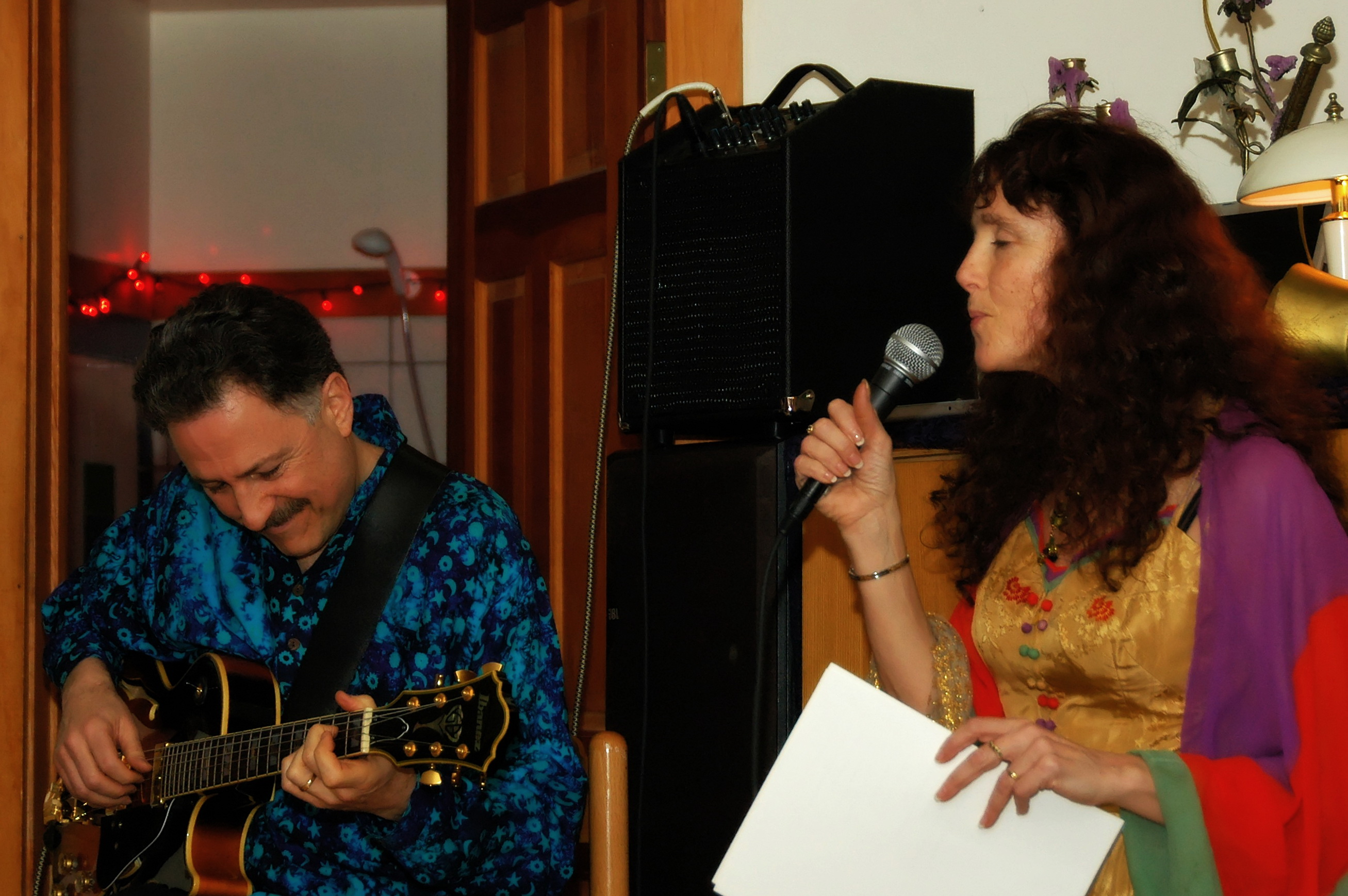 Paul and Penny perform at Davio's party.
